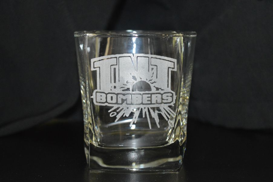 custom laser engraved glass mug