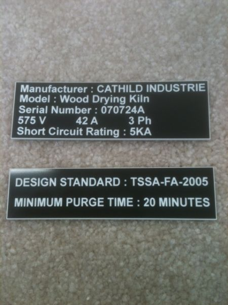 metal signage engraving