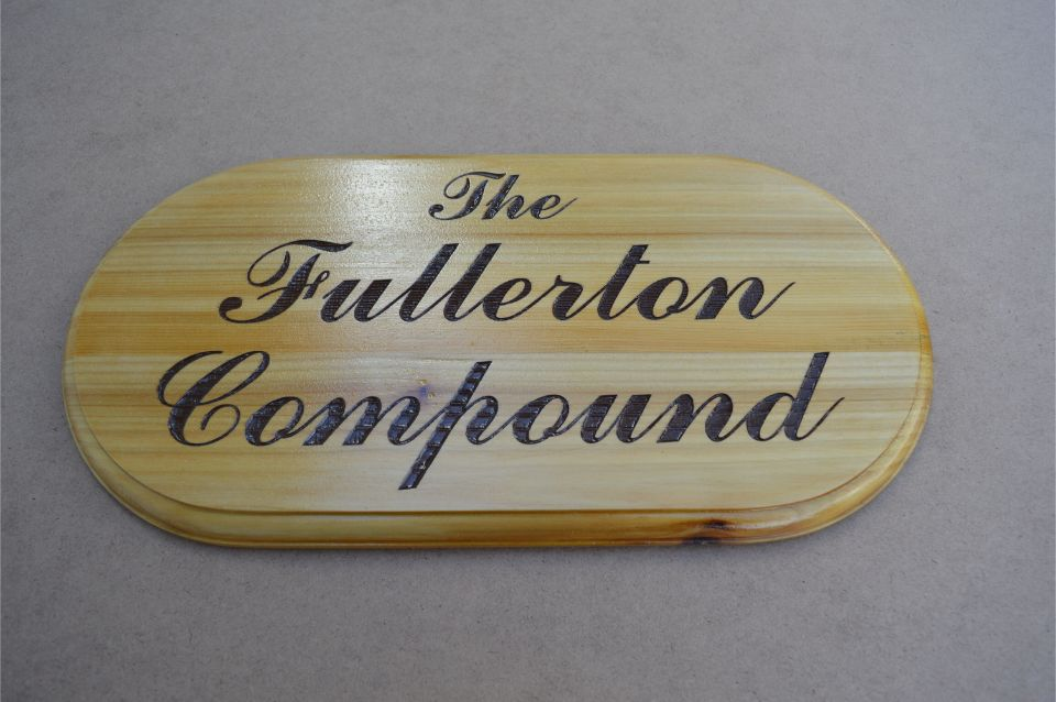 wooden name plate engraving
