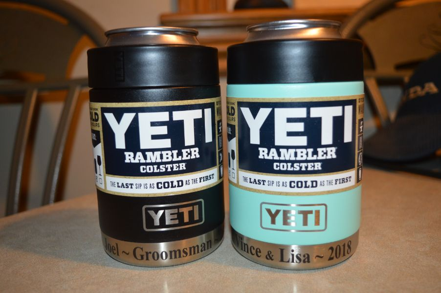 Engraved Yeti products