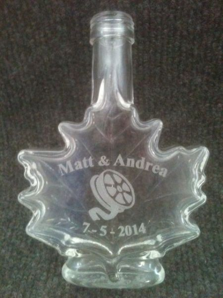Custom engraved glass trphoy