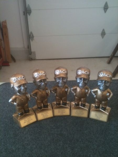Custom engraved trophies