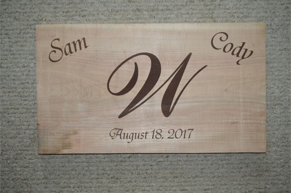 Sam and Cody engraving
