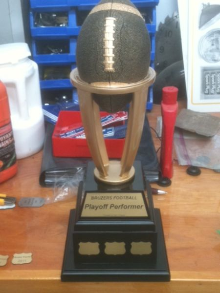 Laser engraved trophy