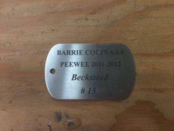 engraved metal plate