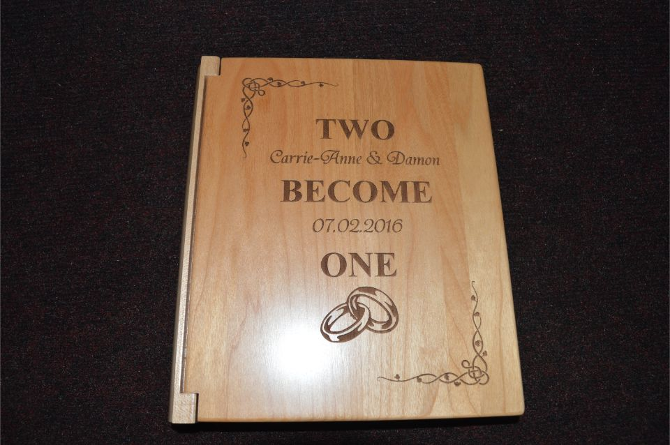 wooden engraved certificate