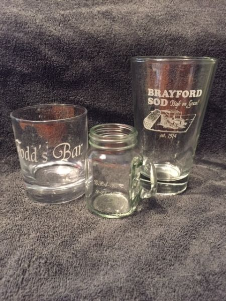custom laser engraved glassware