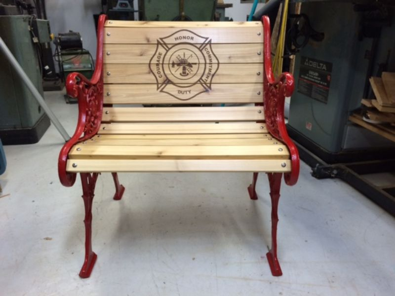 Custom engraved wooden chair